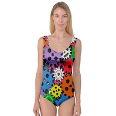 Colorful Toothed Wheels Princess Tank Leotard  by Nexatart