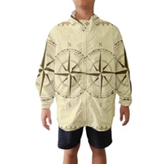 Compass Vintage South West East Wind Breaker (kids) by Nexatart
