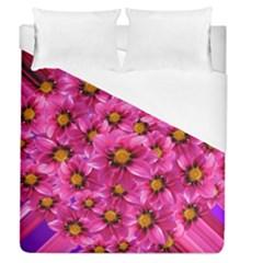 Dahlia Flowers Pink Garden Plant Duvet Cover (queen Size) by Nexatart