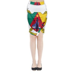 Coat of Arms of Cameroon Midi Wrap Pencil Skirt by abbeyz71