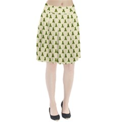 Leaf Pattern Green Wallpaper Tea Pleated Skirt by Nexatart