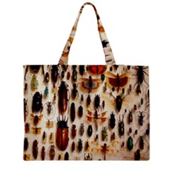Insect Collection Medium Zipper Tote Bag by Nexatart