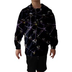 Grid Construction Structure Metal Hooded Wind Breaker (Kids) by Nexatart