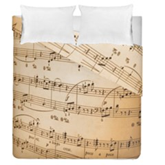 Music Notes Background Duvet Cover Double Side (Queen Size) by Nexatart