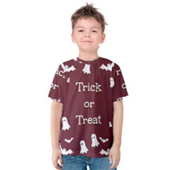 Halloween Free Card Trick Or Treat Kids  Cotton Tee by Nexatart