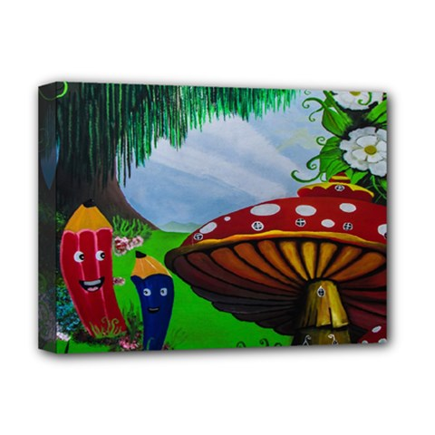 Kindergarten Painting Wall Colorful Deluxe Canvas 16  X 12   by Nexatart