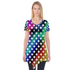 Pattern Template Shiny Short Sleeve Tunic