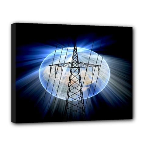 Energy Revolution Current Canvas 14  X 11  by Nexatart
