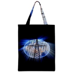 Energy Revolution Current Zipper Classic Tote Bag by Nexatart
