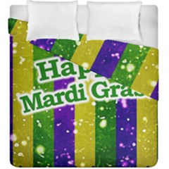 Happy Mardi Gras Poster Duvet Cover Double Side (king Size) by dflcprints
