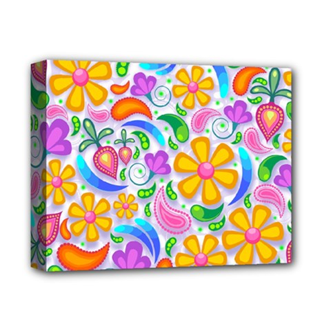 Floral Paisley Background Flower Deluxe Canvas 14  X 11  by Nexatart