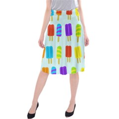 Food Pattern Midi Beach Skirt by Nexatart