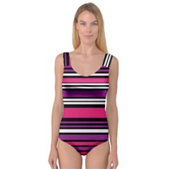 Stripes Colorful Background Princess Tank Leotard  by Nexatart