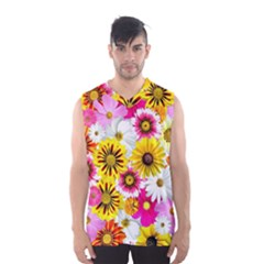 Flowers Blossom Bloom Nature Plant Men s Basketball Tank Top by Nexatart