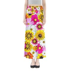 Flowers Blossom Bloom Nature Plant Maxi Skirts by Nexatart