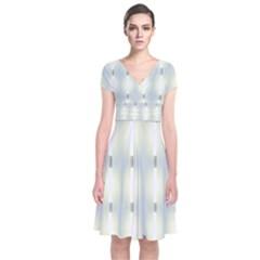 Lights Short Sleeve Front Wrap Dress by Nexatart