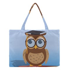Read Owl Book Owl Glasses Read Medium Tote Bag by Nexatart