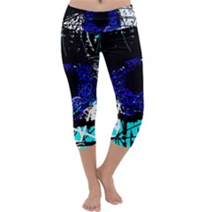 Blue eye Capri Yoga Leggings by Valentinaart