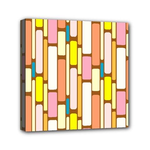 Retro Blocks Mini Canvas 6  X 6  by Nexatart