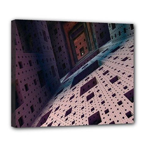 Industry Fractals Geometry Graphic Deluxe Canvas 24  X 20   by Nexatart