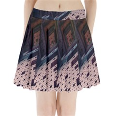 Industry Fractals Geometry Graphic Pleated Mini Skirt by Nexatart