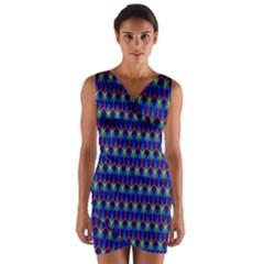 Honeycomb Fractal Art Wrap Front Bodycon Dress by Nexatart