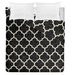 TIL1 BK-MRBL BG-LIN Duvet Cover Double Side (Queen Size) by trendistuff