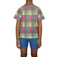 Seamless Pattern Seamless Design Kids  Short Sleeve Swimwear by Nexatart