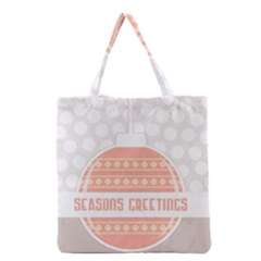 Merry Christmas Grocery Tote Bag by Nexatart