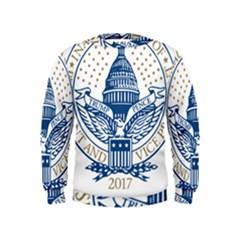 Presidential Inauguration USA Republican President Trump Pence 2017 Logo Kids  Sweatshirt by yoursparklingshop