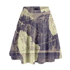 River Globe High Waist Skirt by MTNDesignco