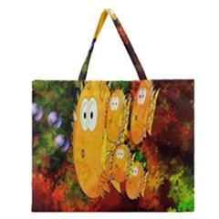 Abstract Fish Artwork Digital Art Zipper Large Tote Bag by Nexatart
