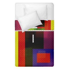 Abstract Art Geometric Background Duvet Cover Double Side (single Size) by Nexatart