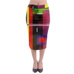 Abstract Art Geometric Background Midi Pencil Skirt by Nexatart