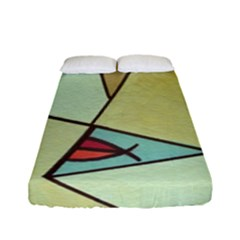 Abstract Art Face Fitted Sheet (full/ Double Size)