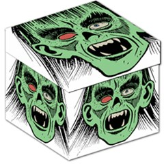 Zombie Face Vector Clipart Storage Stool 12   by Nexatart
