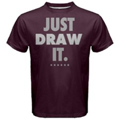 Just Draw It    Men s Cotton Tee by FunnySaying