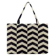 CHV2 BK-MRBL BG-LIN Medium Zipper Tote Bag by trendistuff