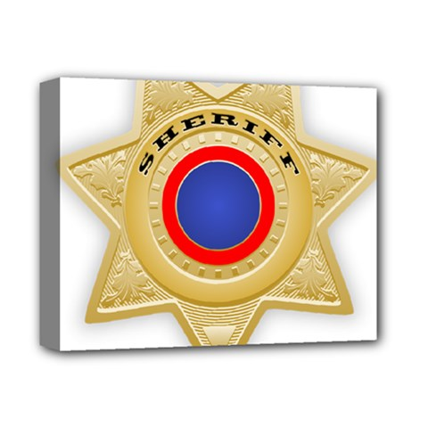 Sheriff S Star Sheriff Star Chief Deluxe Canvas 14  X 11  by Nexatart