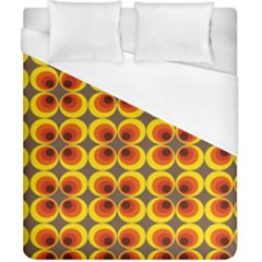 Seventies Hippie Psychedelic Circle Duvet Cover (california King Size) by Nexatart