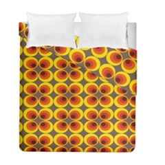 Seventies Hippie Psychedelic Circle Duvet Cover Double Side (full/ Double Size) by Nexatart