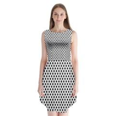 Diamond Black White Shape Abstract Sleeveless Chiffon Dress   by Nexatart