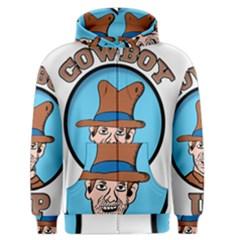 Cowboy Up Men s Zipper Hoodie by EricsDesignz