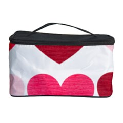 Valentine S Day Hearts Cosmetic Storage Case by Nexatart