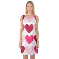 Valentine S Day Hearts Sleeveless Satin Nightdress by Nexatart
