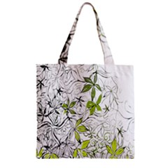 Floral Pattern Background Zipper Grocery Tote Bag by Nexatart