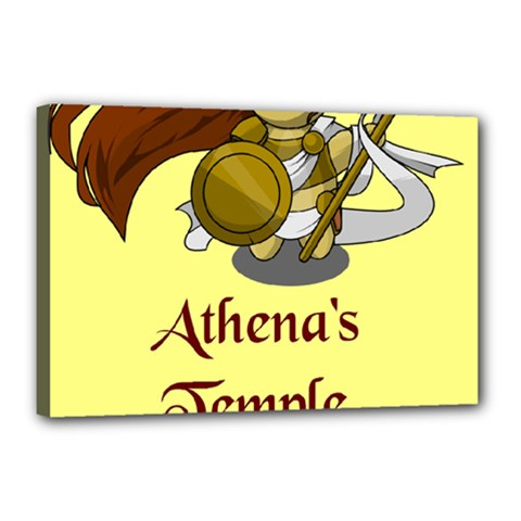 Athena s Temple Canvas 18  X 12  by athenastemple