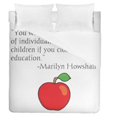 Fruit Of Education Duvet Cover Double Side (queen Size) by athenastemple