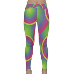 Background Colourful Circles Classic Yoga Leggings by Nexatart