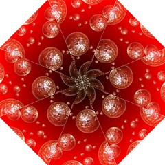 Background Red Blow Balls Deco Folding Umbrellas by Nexatart
